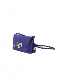D'Ottavio Dot Line Jr blue mini clutch bag with shoulder strap