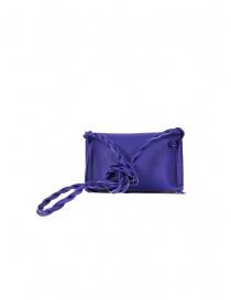D'Ottavio Dot Line Jr blue mini clutch bag with shoulder strap price
