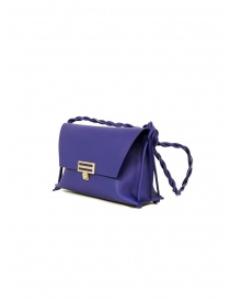 D'Ottavio D08 Dot Line purple shoulder clutch bag