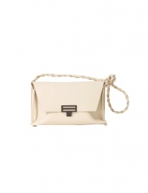 D'Ottavio D08 white Dot Line shoulder bag in leather online