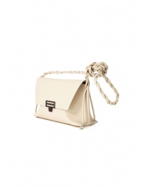 D'Ottavio D08 white Dot Line shoulder bag in leather