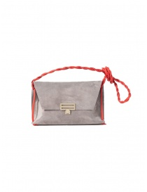 D'Ottavio D08 grey Dot Line shoulder bag in suede online