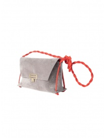 D'Ottavio D08 grey Dot Line shoulder bag in suede