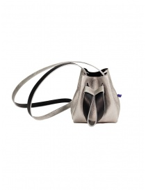 D'Ottavio DOT Line mini bucket in silver leather online