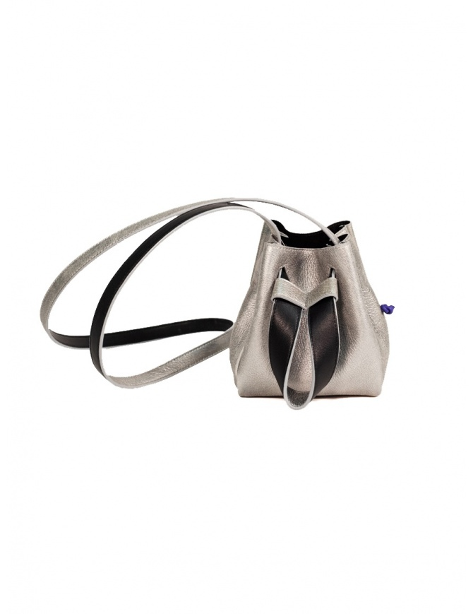 D'Ottavio DOT Line mini bucket in silver leather D29JRALM002SU999 bags online shopping