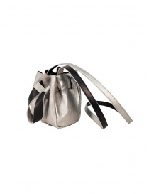 D'Ottavio DOT Line mini bucket in silver leather