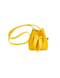 D'Ottavio DOT Line mini yellow bucket bag in pony hair online