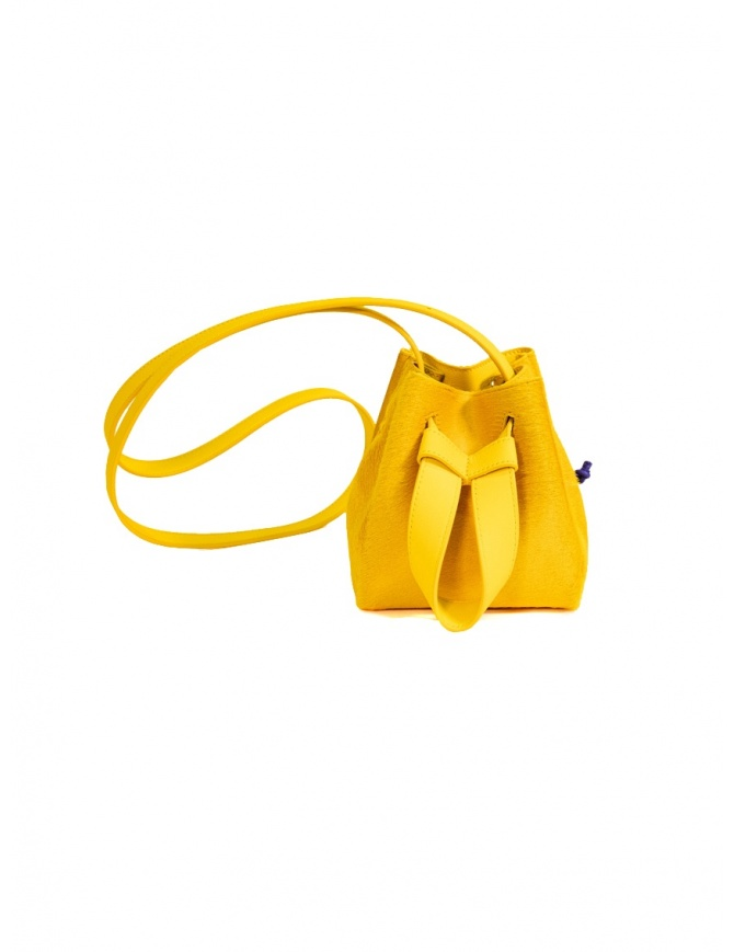 D'Ottavio DOT Line mini yellow bucket bag in pony hair D29JRCV200VO200 bags online shopping