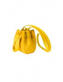 D'Ottavio DOT Line mini yellow bucket bag in pony hair