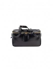 D'Ottavio D70JR mini duffle bag in shiny black leather online