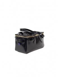 D'Ottavio D70JR mini duffle bag in shiny black leather