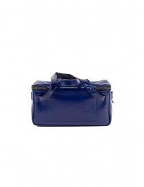 D'Ottavio D70JR mini borsa baule in pelle blu