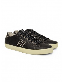 Leather Crown LC148 Studlight sneakers nere con borchie online