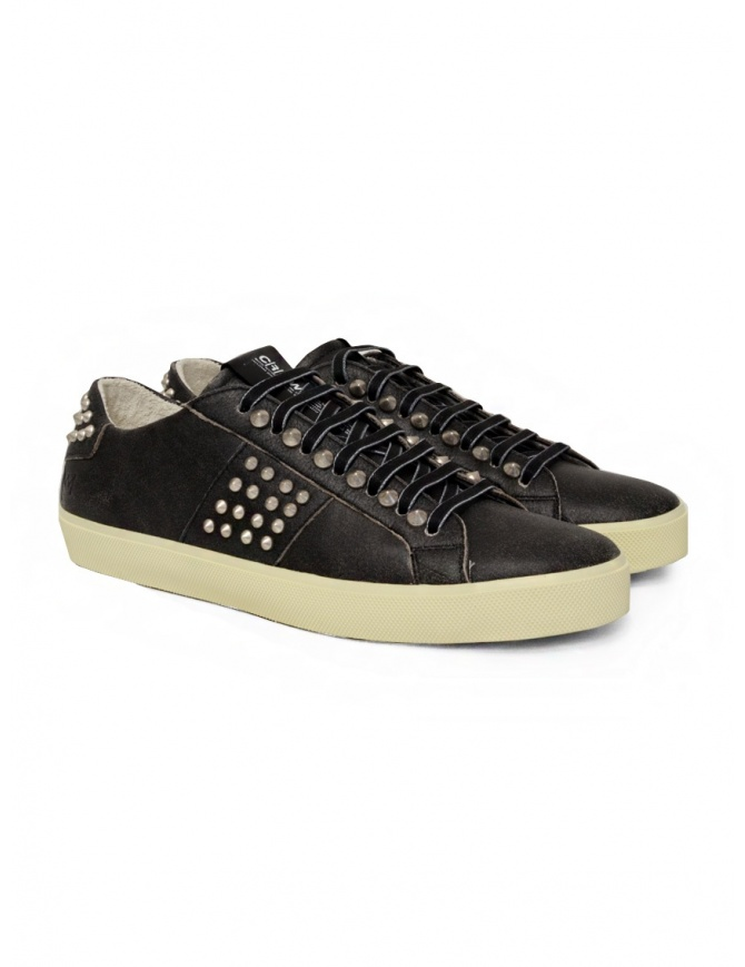 Leather Crown LC148 Studlight black sneakers with studs M LC148 20127 mens shoes online shopping