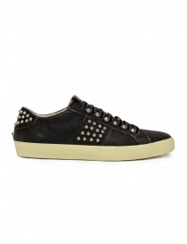 Leather Crown LC148 Studlight black sneakers with studs