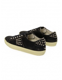 Leather Crown LC148 Studlight black sneakers with studs price