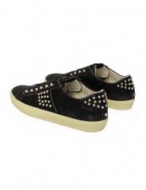 Leather Crown LC148 Studlight sneakers nere con borchie prezzo