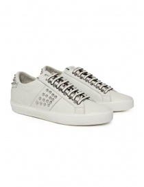 Leather Crown Studlight white sneakers with studs online