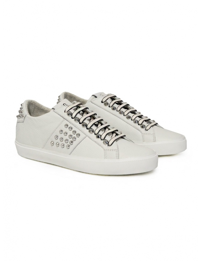 Leather Crown Studlight white sneakers with studs W LC148 20129 womens shoes online shopping