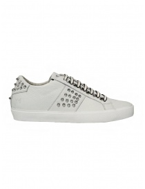 Leather Crown Studlight white sneakers with studs