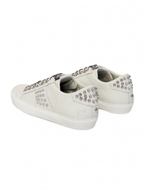 Leather Crown Studlight white sneakers with studs price