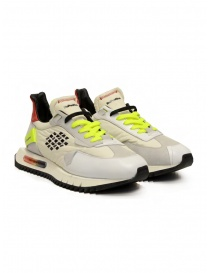 BePositive Space Run white and fluo yellow sneakers online