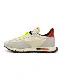 BePositive Space Run sneakers bianche e giallo fluo