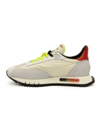 BePositive Space Run white and fluo yellow sneakers