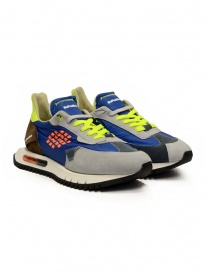 BePositive Space Run Blue nylon and suede sneakers online