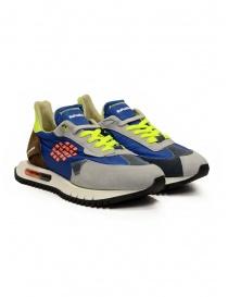 BePositive Space Run Blue sneakers in nylon e suede online