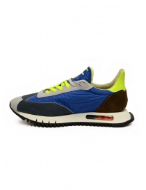 BePositive Space Run Blue nylon and suede sneakers