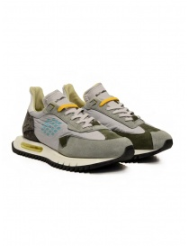BePositive Space Run grey sneakers with light blue logo online