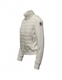 Parajumpers Rosy white bomber jacket in fleece and quilt