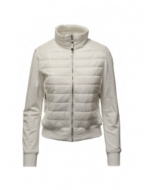Parajumpers Rosy white bomber jacket in fleece and quilt online