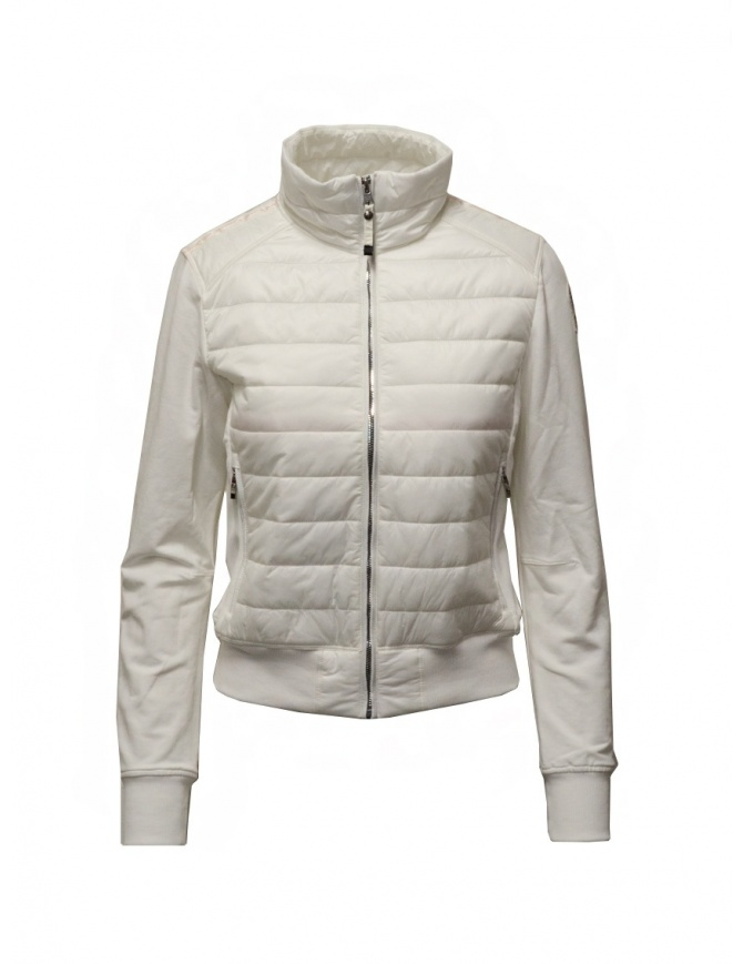 Parajumpers Rosy white bomber jacket in fleece and quilt PWFLEFP32 ROSY WHT CREAM womens jackets online shopping