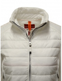 Parajumpers Rosy white bomber jacket in fleece and quilt womens jackets buy online