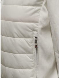 Parajumpers Rosy white bomber jacket in fleece and quilt womens jackets price