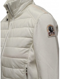 Parajumpers Rosy white bomber jacket in fleece and quilt buy online price