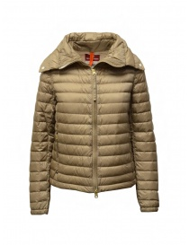 Parajumpers Ayame short thin down jacket in cappuccino color online