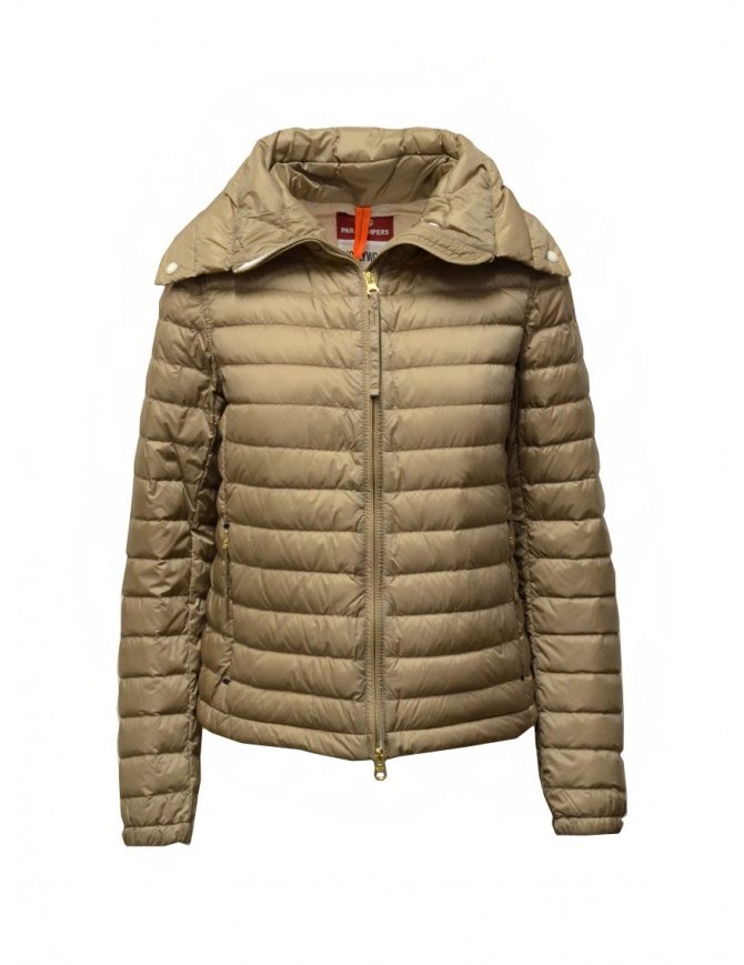 Parajumpers Ayame short thin down jacket in cappuccino color PWJCKHY32 AYAME CAPPUCCINO womens jackets online shopping