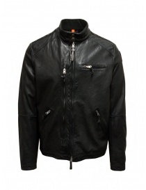Parajumpers Justin Leather giacca in pelle nera online