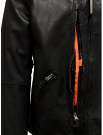 Parajumpers Justin Leather giacca in pelle nera giubbini uomo prezzo
