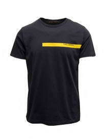Parajumpers Tape Tee black t-shirt with yellow print online
