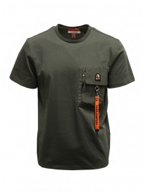 Parajumpers Mojave t-shirt verde con taschino online
