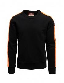 Parajumpers Armstrong felpa nera con fasce arancioni online