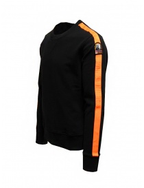 Parajumpers Armstrong felpa nera con fasce arancioni