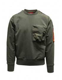 Parajumpers Sabre green sweatshirt with front pocket online