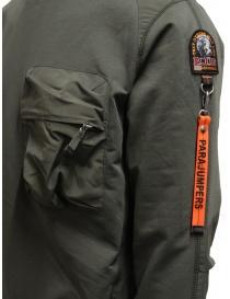 Parajumpers Sabre felpa verde con tasca frontale maglieria uomo acquista online