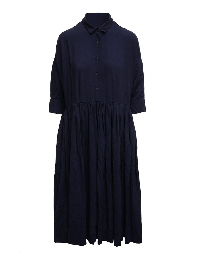 Casey Casey blue wool dress Stephanie Dress Kent 15FR328 NAVY womens dresses online shopping
