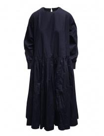 Casey Casey maxi abito a maniche lunghe in cotone blu 15FR331 NAVY order online